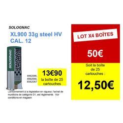 Cartouche CALIBRE 12/76 XL900 33gr Acier Haute Vitesse N°4 X25