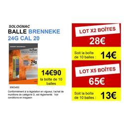 BALLE BRENNEKE CALIBRE 20/67 X 10