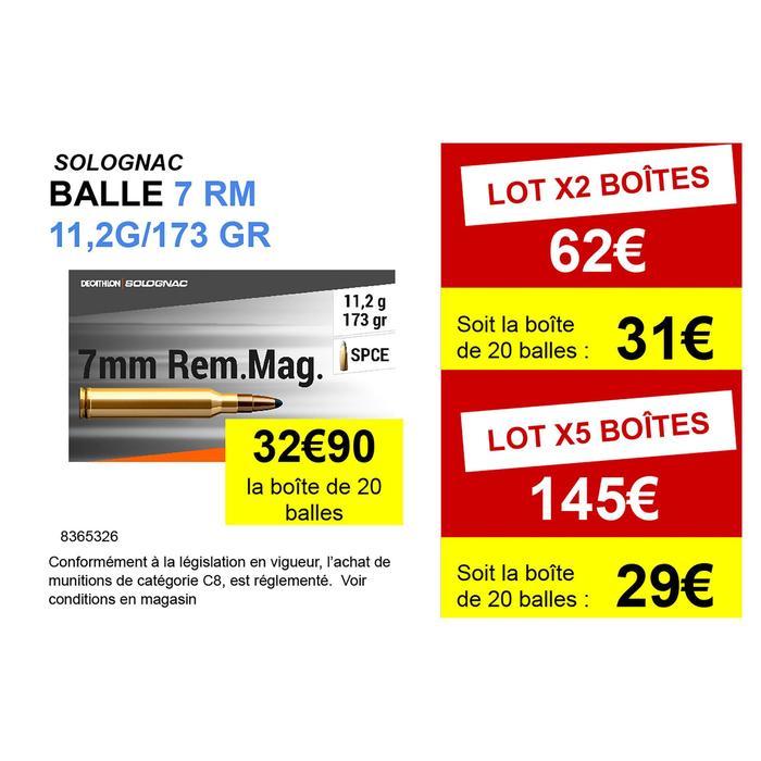 Balle 7mm REMINGTON MAGNUM 11,2g/173gr X20