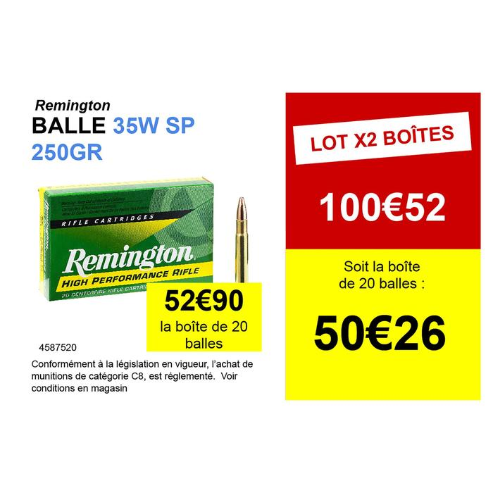 Munitions 35 WHELEN SP 250 grains