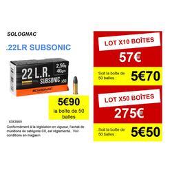 BALLE 22 Long Rifle Subsonique Solognac