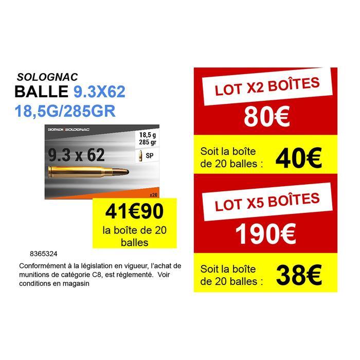 Balle 9,3x62 18,5G/285GRS X20