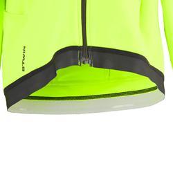 Fietsshirt met lange mouwen voor kinderen 900 zwart/geel