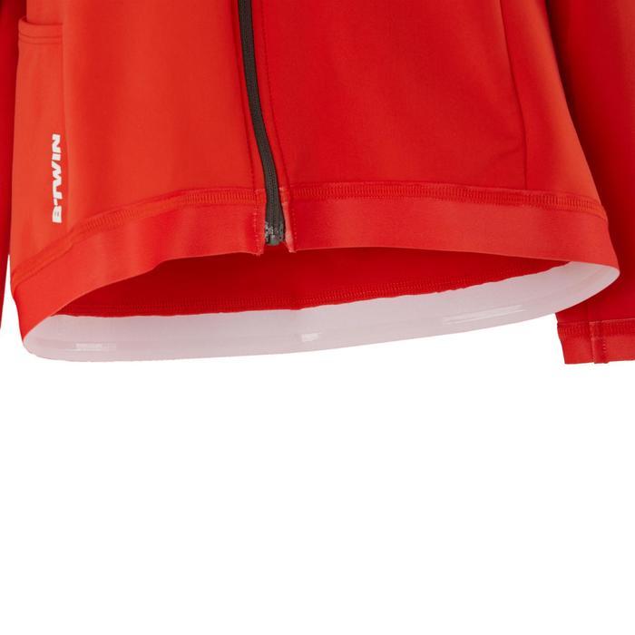 Fietsshirt met lange mouwen voor kinderen 900 zwart/rood
