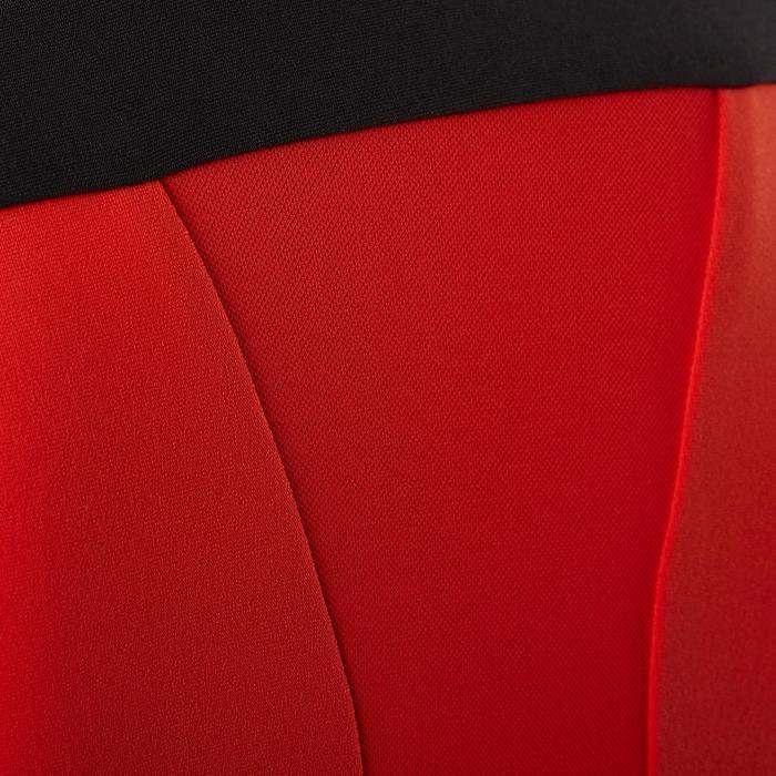 Langarm Radtrikot Kinder 900 schwarz/rot