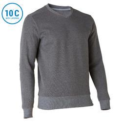 男款自然健行立領針織衫-NH150