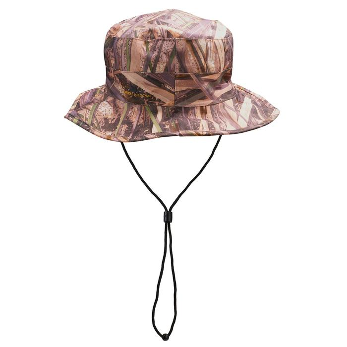 Sombrero Caza Solognac 100 Camuflaje Marismas Impermeable