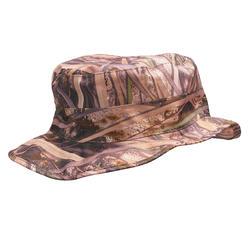 Cappellino caccia impermeabile 100 mimetico canneto