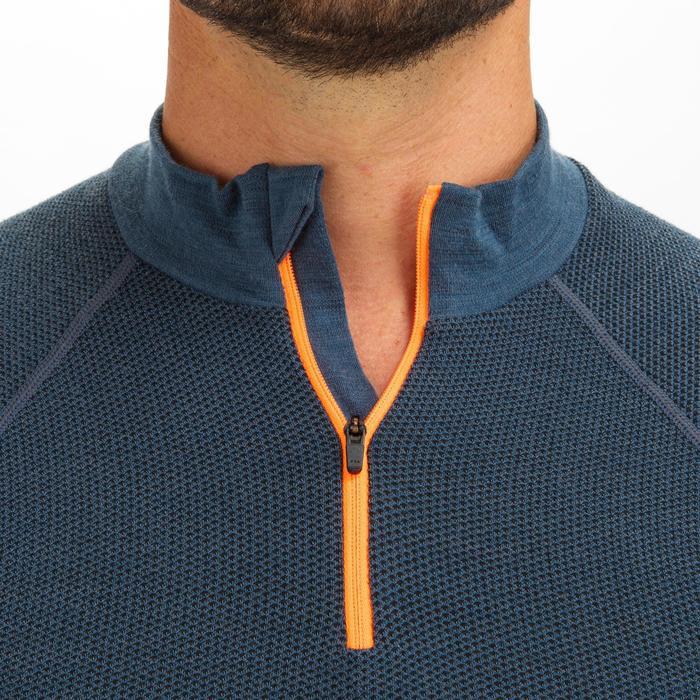 T-Shirt manches longues chaud - sous vêtement mérinos Sailing 500 homme Gris