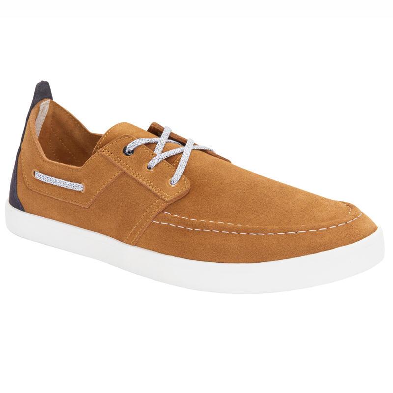 Men's Sailing Non-Slip Boat Shoes 300 - Brown