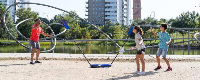 filet de badminton easy set 3M