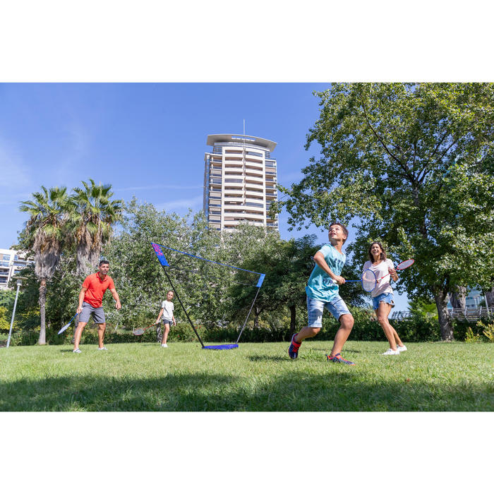 輕便可攜式羽球網套組3 M藍色