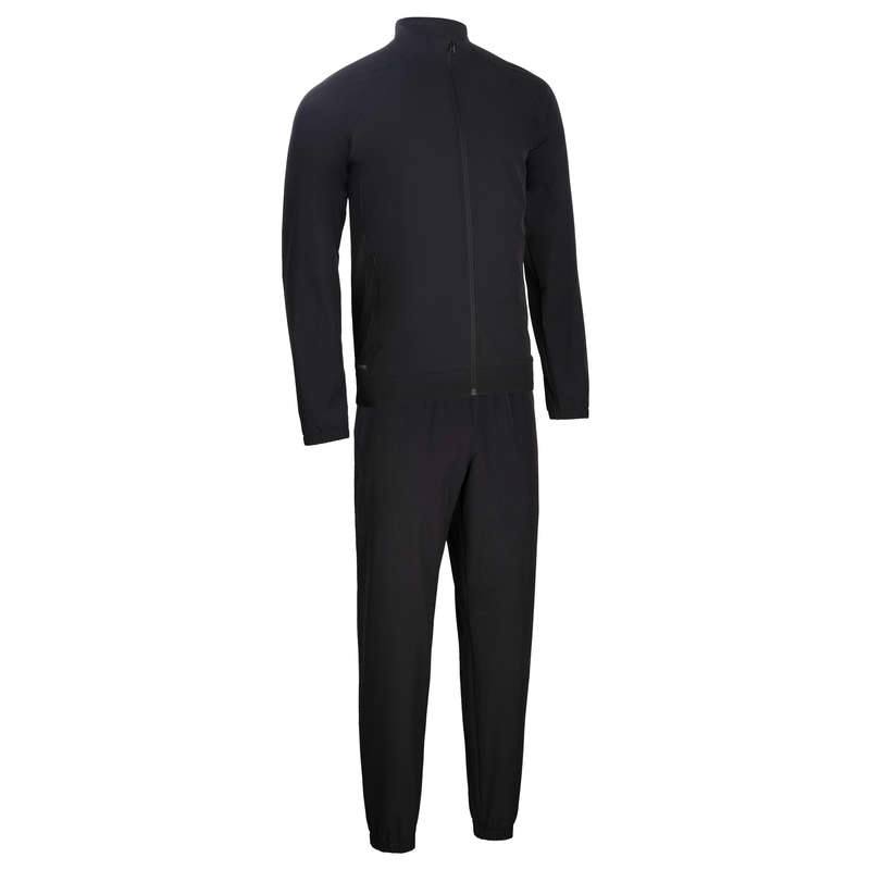 MAN FITNESS APPAREL Fitness and Gym - 500 Fitness Tracksuit - Black DOMYOS - Fitness and Gym