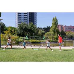 輕便可攜式羽球網3M綠色