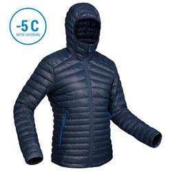 Men's Mountain Trekking Down jacket - TREK 100 DOWN - navy blue