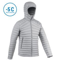 Men's Mountain Trekking Down jacket - TREK 100 DOWN - grey
