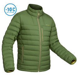 Men's Mountain trekking down jacket TREK 500 DOWN - Green