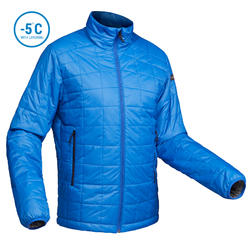 Men's Mountain Trekking Padded Jacket - TREK 100 - blue