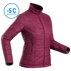 Women's Mountain Trekking Padded Jacket TREK 100 - Purple