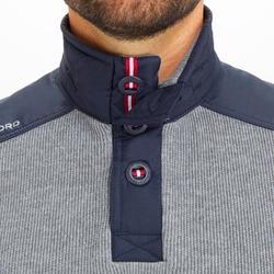 男款保暖航海立領針織衫Sailing 100-灰色
