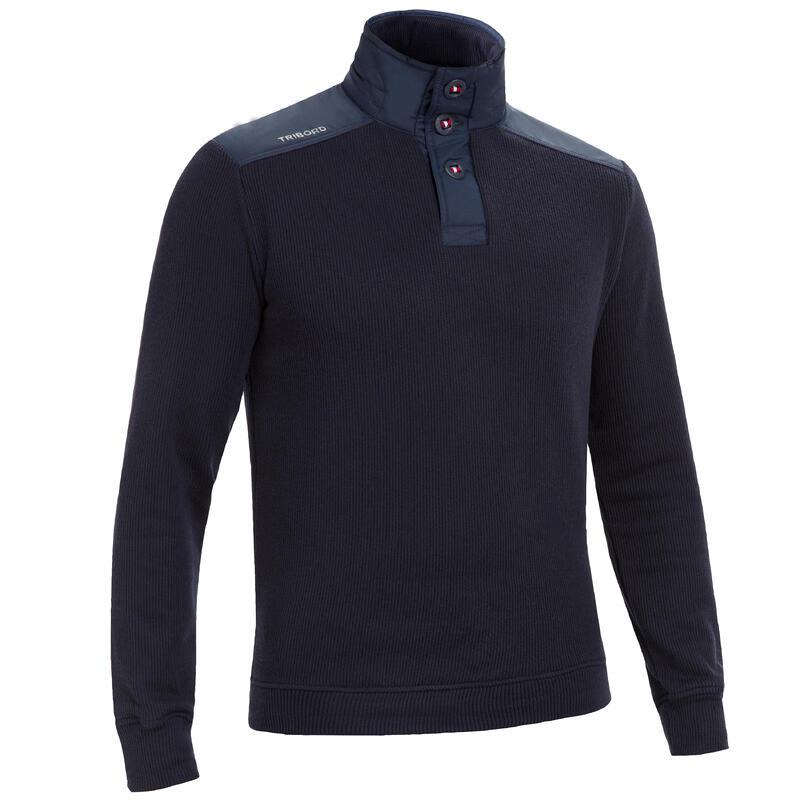 Pánský námořnický svetr Sailing 100 tmavě modrý