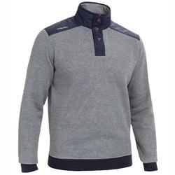 Men's sailing warm pullover 100 - grey