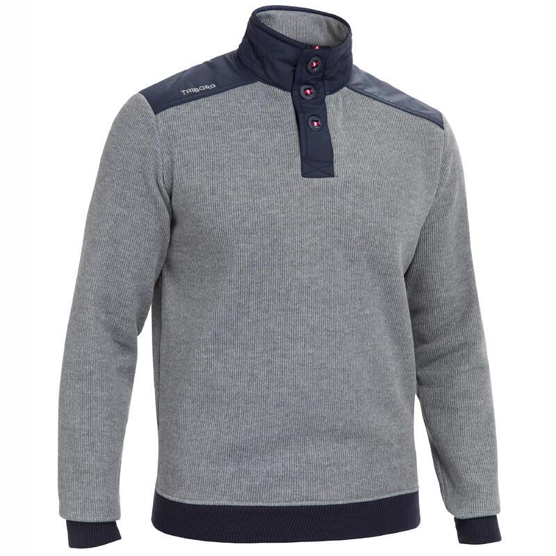 Pánský námořnický svetr Sailing 100 šedý