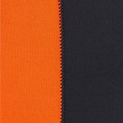 Wetsuit voor zeilen genaaid/gelijmd neopreen 3/2 mm heren 500 zwart/oranje