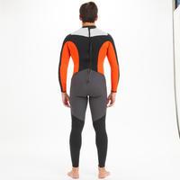 Combinaison néoprène 3/2mm cousu/collée voile homme Dinghy 500 noir/orange