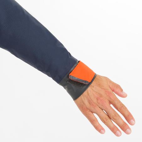 Vareuse coupe-vent Voile homme Dinghy 500 bleu foncé/orange