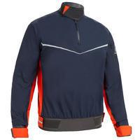 Men's Sailing Windproof Smock Dinghy 500 - Dark Blue/Orange