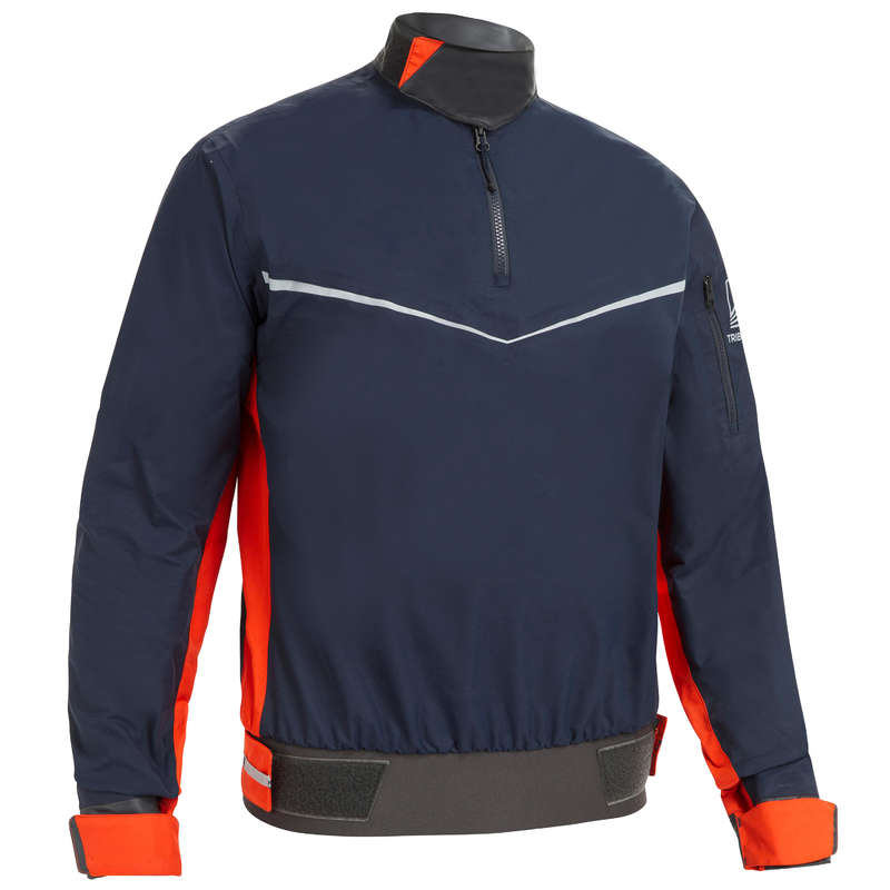 ADULT DINGHY EQUIPMENT Dinghy Sailing - Men's Smock 500 - Blue/Orange TRIBORD - Dinghy Sailing