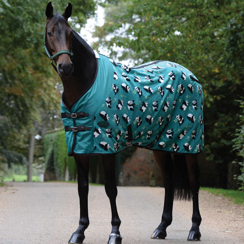COLD WEATHER TURNOUT RUGS Horse Riding - Fleece cooler standard neck WEATHERBEETA - Saddlery and Tack