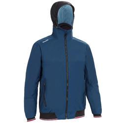 男款航海遊艇競賽連帽外套RACE 100-軍藍色