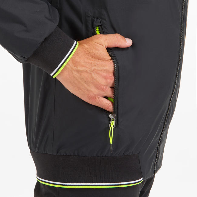 MEN'S WATERPROOF JACKET SAILING RACE 100 - BLACK