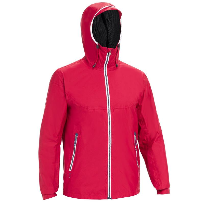 Men's waterproof sailing jacket 100 - Burgundy