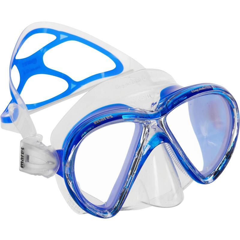 Duikbril voor diepzeeduiken X-Vision Liquid Skin kristal/blauw