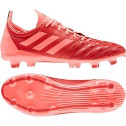 chaussure de rugby terrain sec malice FG adulte orange Adidas