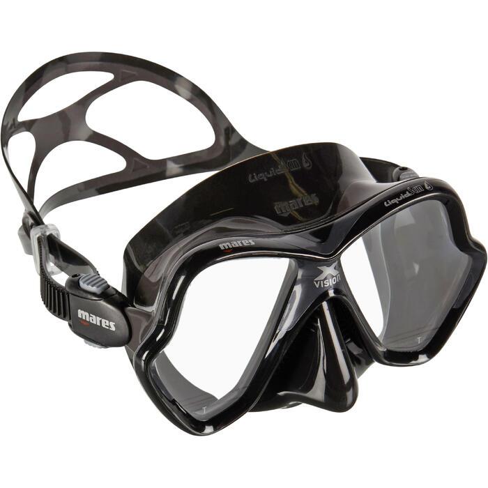 Masque de plongée sous-marine X-Vision Liquid Skin Noir/Gris