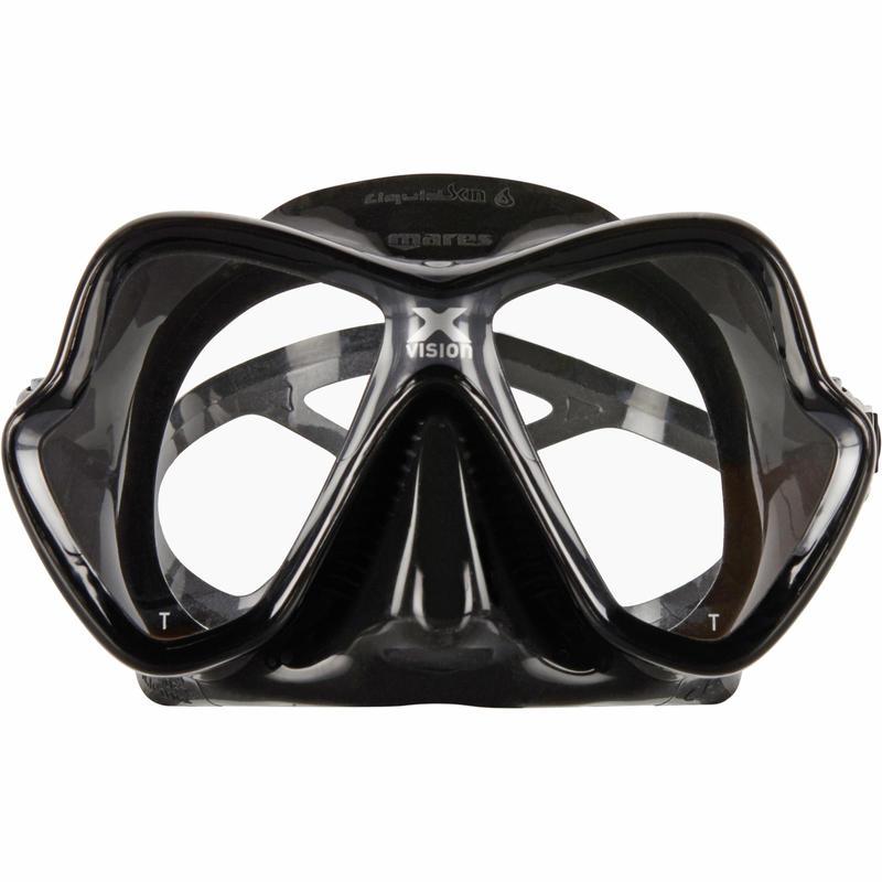 X-Vision Liquid Skin Scuba Diving Mask - Black/Grey
