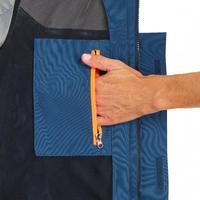 Men's sailing waterproof jacket SAILING 300 - Blue white
