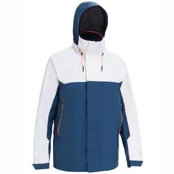 男款航海防水外套Sailing 300-藍色/白色