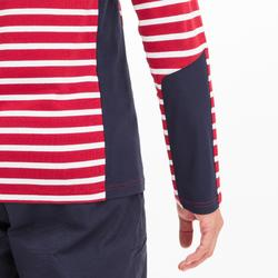T-shirt manches longues - marinière de voile homme SAILING 100 Bordeaux