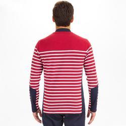 Shirt met lange mouwen voor zeilen heren Sailing 100 bordeaux