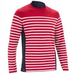 Segelshirt langarm Sailing 100 Maritim Herren bordeaux