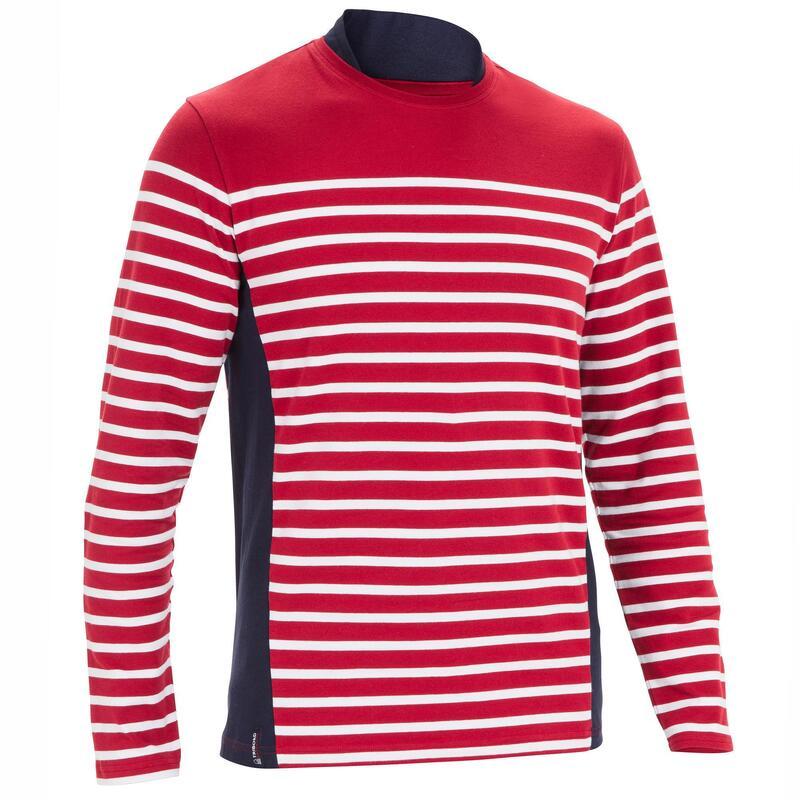 Men's Sailing Long Sleeve T-Shirt 100 - Burgundy