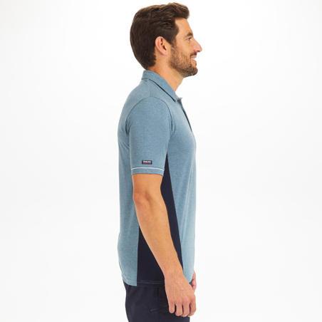 Men's Sailing Short Sleeve Polo Shirt Sailing 100 - Mottled Grey