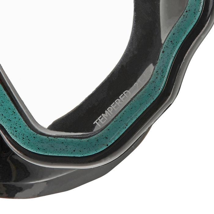 Duikbril SCD 500 met twee glazen zwart/blauw/turquoise