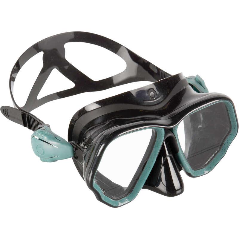 SCD MASKS & SNORKELS Scuba Diving - Mask SCD 500 - Black/Turq. SUBEA - Scuba Diving Equipment