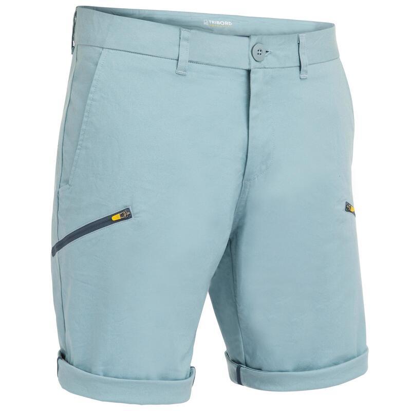 Men's SAILING robust Bermuda shorts 100 - Light grey